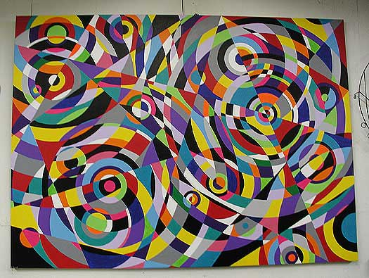 Lifetime progression of artist Bruce Gray's paintings - rain4
